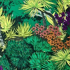 Large Tropical Floral Flowers Plants Sewing Quilting Fabric Garden Lily 1/2 YARD
