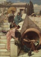 Diogenes, detail, 1882, JOHN WILLIAM WATERHOUSE Pre-Raphaelite Poster