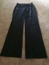 Under Armour Women's Black Gray Red Hawks Heat Gear Athletic Pants Medium