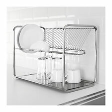 IKEA Stainless Steel Dish Rack Drainer Cutlery Drying Holder Dryer Tray Kitchen