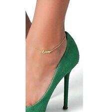 Sexy LOVE Word Anklet Foot Chain charm Leg Bracelet Beach Holiday Jewellery AZY
