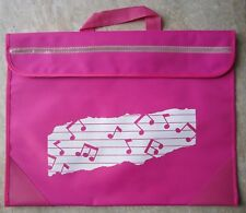 Pink Music Bag with top handle and a name place on the reverse *NEW*
