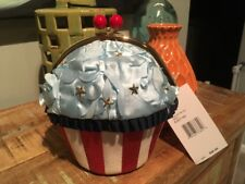 Betsey Johnson Baked in the USA Cupcake Crossbody Purse Bag NWT