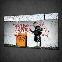 BANKSY JESUS STREAKER GRAFFITI STREET ART CANVAS PRINT PICTURE POSTER WALL DECOR
