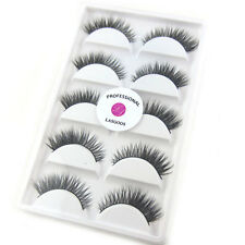 5Pairs/box Real Mink 3D False Eyelashes Winged Reusable Fake Eyelashes LASGOOS