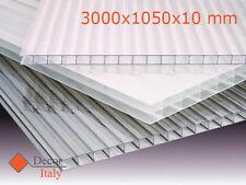 Lastra policarbonato alveolare Makrolon 3000x1050mm SPESSORE 10mm 4 pareti