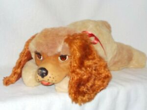Vintage Gund Stuffed Dog With Vinyl Face