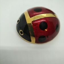 Carolee signed Huge Red Enamel Ladybug Brooch
