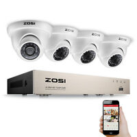 ZOSI 1.0MP 720P 8CH HDMI TVI DVR 1500TVL IR Outdoor CCTV Security Camera System
