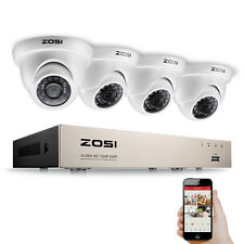 ZOSI 720P 8CH HDMI TVI DVR 1.0MP 1500TVL IR Outdoor CCTV Security Camera System