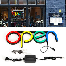 Pvc Led Neon Light Open Business Sign for Bar Restaurant Cafe Horizontal Upscale