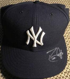 DAVID JUSTICE NEW YORK YANKEES SIGNED AUTHENTIC MLB NEW ERA HAT/CAP (FLEER COA)