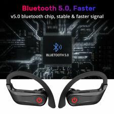 TWS Wireless bluetooth 5.0 Sports Headset 9D Earbuds Earphone Handsfree Ear-Hook
