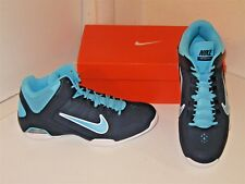 Nike Air Visi Pro IV 4 Basketball Navy & Gamma Blue Mid Sneakers Shoes Mens 10