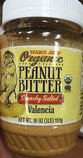 TRADER JOE'S ORGANIC Peanut Butter CRUNCHY SALTED  , Valencia 1 lb