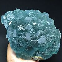 1600gNatural Blue Phantom Trapezoidal Green Fluorite Crystal Mineral Specimen