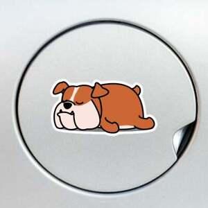 Fawn English Bulldog Car Sticker Bully Dog Vinyl Decal Waterproof Outdoor Indoor