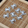 10PC 3D Crab Charm Pendant Tibetan Silver Beads Fit DIY Jewelry Finding Craft