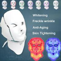7 Color LED Light Photon Face Neck Cover Device Rejuvenation Skin Anti Wrinkle