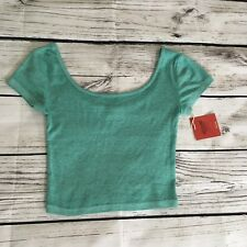 Mossimo Green Crop Top Size S NWT