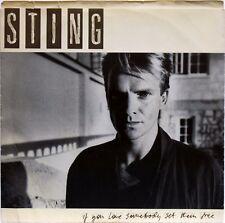 "STING IF YOU LOVE SOMEBODY SET THEM FREE ORIGINAL 1985 7"" 45 RPM A&M 2738 P/S NM"