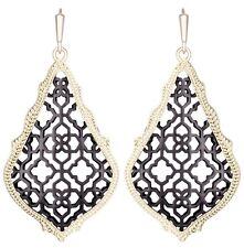 Kendra Scott Addie Teardrop Dangle Earrings in Gold Plated & Gunmetal Filigree