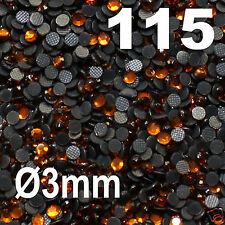 250 Strass thermocollant RHINESTONE hotfix Ø 3 mm ss10 CUIVRE N° 115