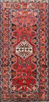 4x7 Vintage Geometric Hamedan Hand-knotted Area Rug Nomadic Oriental Wool Carpet