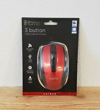iHome Compact Corded Mouse NEW Model IH-BL-M600R 3 Button USB Optical