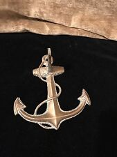 Vintage Brass Anchor Nautical Ship Boat Wall Mount