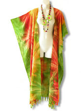 CD238 Plus Size Tie Dye Maxi Cardigan Kaftan Duster Wrap Dress - 2X, 3X, 4X & 5X