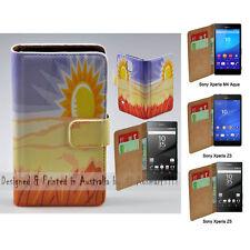 For Xperia XZ XA XP M4 Aqua Z5 Series Z3 - Desert Print Flip Wallet Phone Case