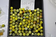 Estate Found Mixed Lot of Vintage 100+ Yellow Marbles  Lot #17