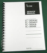 """Icom IC-2GXA/AT/E/ET Service Manual: w/11""""X32"""" Schematic, Protective Covers"""