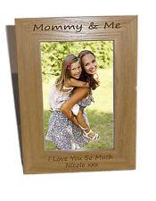 Mommy & Me in legno Photo Frame 6x8-personalizzare questo riquadro-libera engrav