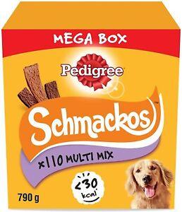 790g Pedigree Schmackos Dog Treats  Meat Variety Mega Box 110 Dog chews