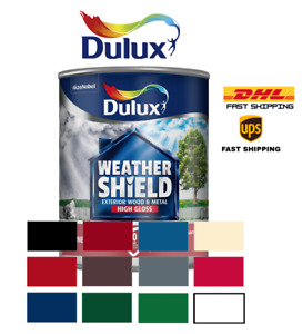 Dulux Weathershield Exterior Quick Dry Satin/Gloss for Wood & Metal ALL COLOURS