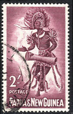 Papua New Guinea 159, Used. Male dancer with drum, 1961