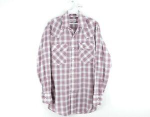 Vintage 70s Levis Mens Medium Double Pocket Long Sleeve Pearl Snap Western Shirt