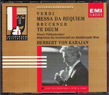 Herbert von KARAJAN VERDI Requiem BRUCKNER Te Deum 2CD Leonie Rysanek Wunderlich