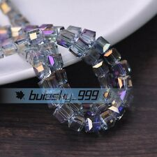 3mm 4mm 6mm 8mm 10mm 14mm Cube Square Crystal Glass Faceted Loose Spacer Beads