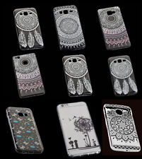 Ultra Slim Silikon TPU Case Cover Handy Hülle Schutzhülle mit Tattoo Design