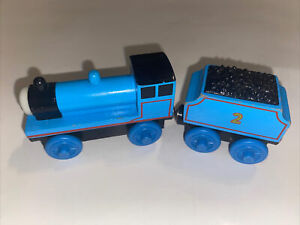 Thomas & Friends Wooden Railway Edward W/ Tender No Stripe Magnetic Train Engine