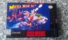 Mega Man X2 (Snes, 1997) Box and insert only (reproduction)