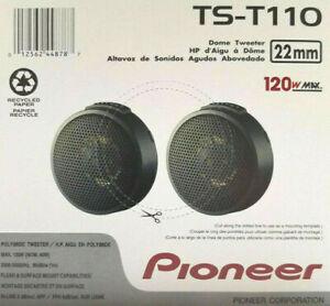 """Pioneer TS-T110 Tweeters 7/8"""" 120W Peak Power Poly Dome Tweeters Pair NEW"""