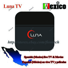 New Spanish version of Luna TV BOX Well as HTV5/A2 Spain/Mexico live tv & movies