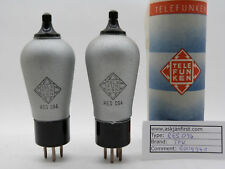 Matched Pair Of NOS TELEFUNKEN TFK RES094 Globe Tubes Directly Heated.