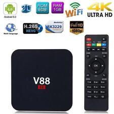 4K Android6.0 Smart TV BOX Quad Core 1GB+8GB 1080P Media Player Set-top Box XBMC