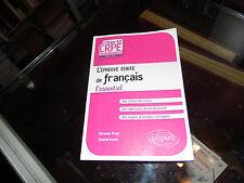 L'épreuve écrite de français l'essentiel, Marianne Froye
