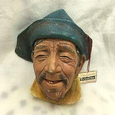 Bosson Wall Mask Boatman Chalkware England Vintage Sardinian